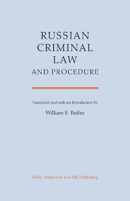 Russian Criminal Law and Procedure (Hardback)