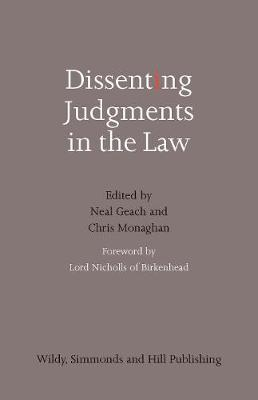 Dissenting Judgments in the Law (Hardback)