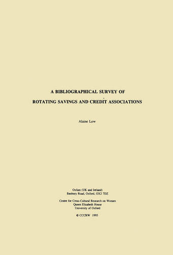 A Bibliographical Survey of Rotating Savings and Credit Associations (Paperback)