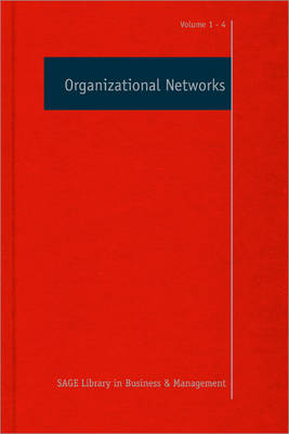 Organizational Networks - Sage Library in Business and Management (Hardback)