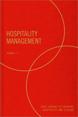 Hospitality Management - SAGE Library of Tourism, Hospitality & Leisure (Hardback)