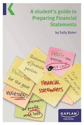 A Students Guide to Preparing Financial Statements (Paperback)
