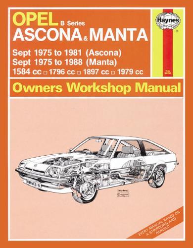Opel Ascona & Manta Owner's Workshop Manual - Haynes Service and Repair Manuals (Paperback)