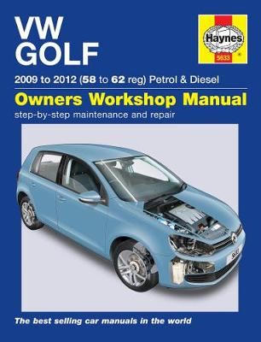VW Golf Petrol & Diesel (09 - 12) 58 To 62 (Hardback)
