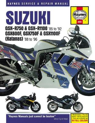 Suzuki GSX-R750 Owner's Workshop Manual (Paperback)