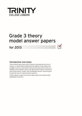 Theory Model Answer Paper Grade 3 2013 - Theory Model Answer Papers (Paperback)