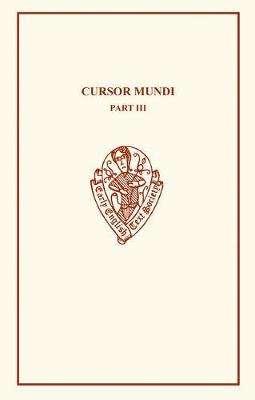 Cursor Mundi III - Early English Text Society Original Series (Paperback)