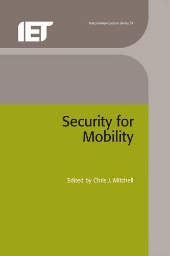 Security for Mobility - Telecommunications (Hardback)