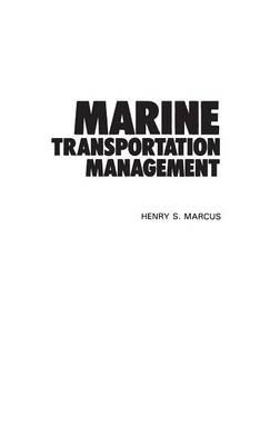 Marine Transportation Management (Hardback)