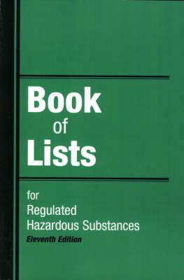 Book of Lists for Regulated Hazardous Substances (Paperback)