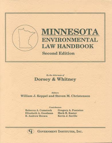 Minnesota Environmental Law Handbook - State Environmental Law Handbooks (Paperback)