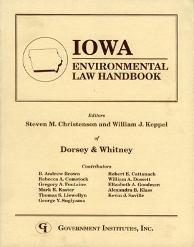 Iowa Environmental Law Handbook - State Environmental Law Handbooks (Paperback)