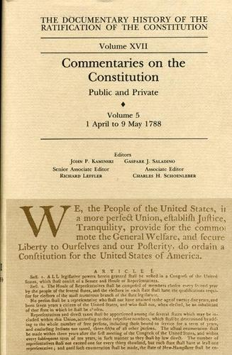 Commentaries on the Constitution Vol 5 (Hardback)