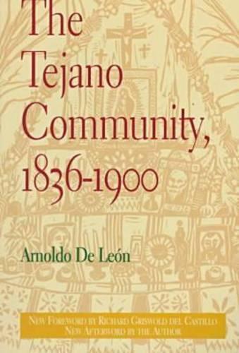 Tejano Community- 1836-1900 (Paperback)