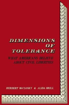Dimensions of Tolerance: What Americans Believe About Civil Liberties (Paperback)