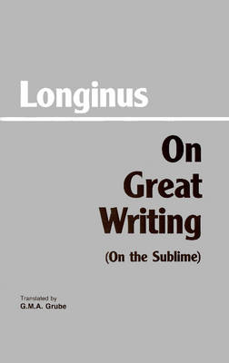 On Great Writing (On the Sublime) (Paperback)
