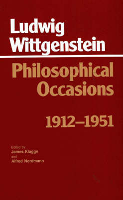 Philosophical Occasions: 1912-1951: 1912-1951 - Hackett Classics (Paperback)