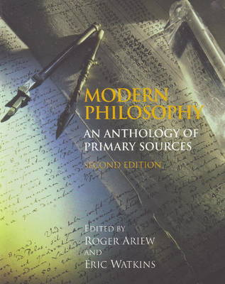 Modern Philosophy: An Anthology of Primary Sources (Hardback)