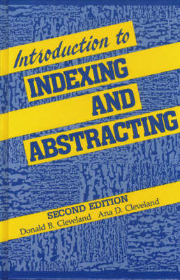 Introduction to Indexing and Abstracting (Hardback)