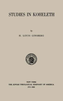 Studies in Kohelet (Paperback)