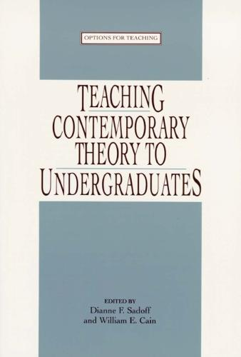 Teaching Contemporary Theory to Undergraduates (Hardback)
