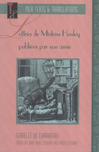 Lettres de Mistriss Henley publiees par son amie (Paperback)