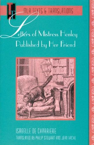 Letters of Mistress Henley Published by Her Friend (Paperback)