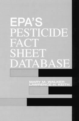 EPA'S Pesticide Fact Sheet Database (CD-ROM)