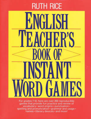 English Teacher's Book of Instant Word Games (Paperback)