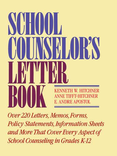 School Counselor's Letter Book (Paperback)