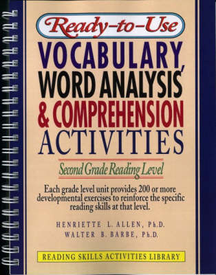 Ready-to Use Vocabulary Word Analysis & Comprehension Activities: Second Grade Reading Level (Spiral bound)