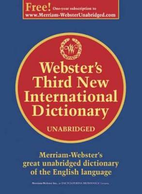 Webster's Third New International Dictionary (Hardback)