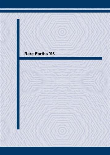 Rare Earths '98 - Materials Science Forum v. 315-317. (Paperback)