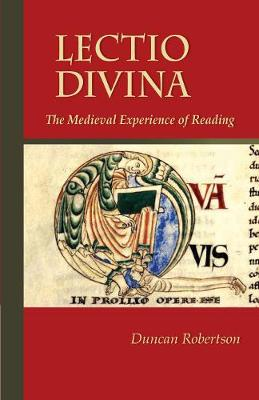 Lectio Divina: The Medieval Experience of Reading - Cistercian Studies 238 (Paperback)