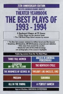 The Best Plays of 1993-1994 - Best Plays (Hardback)