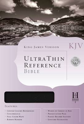 Bible Kjv U/Thin Reference Blk T/I: Imitation Leather: Black (Book)