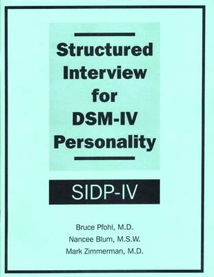 Structured Interview for DSM-IV (R) Personality (SIDP-IV)