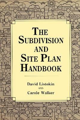 Subdivision and Site Plan Handbook (Hardback)