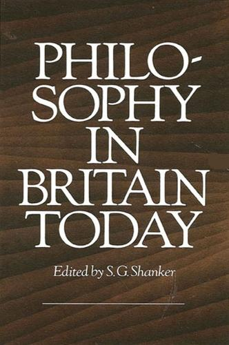 Philosophy in Britain Today (Paperback)