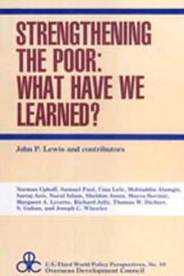 Strengthening the Poor - U.S.Third World Policy Perspectives Series (Hardback)