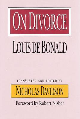 On Divorce - The Library of Conservative Thought (Hardback)