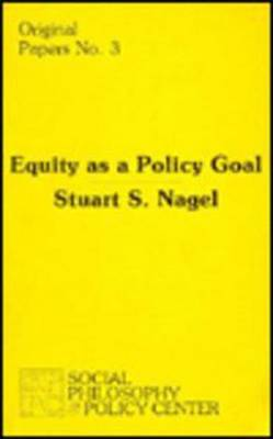 Equity as a Policy Goal (Paperback)