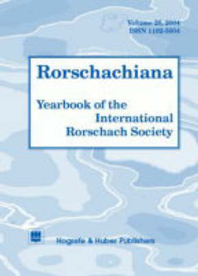 Rorschachiana: v. 26: Yearbook of the International Rorschach Society (Hardback)