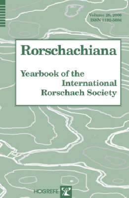 Rorschachiana: v. 28: Yearbook of the International Rorschach Society (Paperback)
