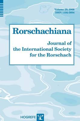 Rorschachiana: v. 29 (Hardback)