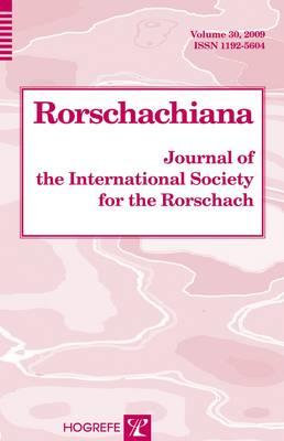 Rorschachiana: v. 30: Yearbook of the International Rorschach Society (Hardback)