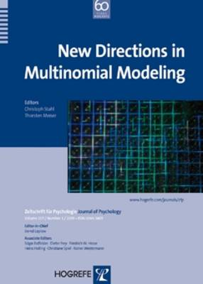 New Directions in Multinomial Modeling - Zeitschrift fur Psychologie (Paperback)