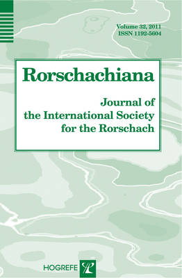 Rorschachiana: v. 32: Journal of the International Society for the Rorschach - Yearbook of the International Rorschach Society (Hardback)