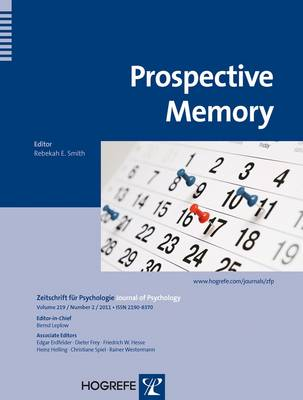 Prospective Memory - Zeitschrift fur Psychologie (Paperback)