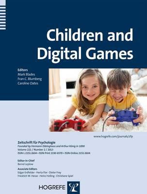 Children and Digital Games - Zeitschrift fur Psychologie (Paperback)